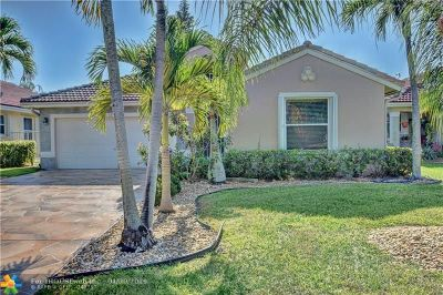Coconut Creek Single Family Home For Sale: 3712 Coco Lake Dr
