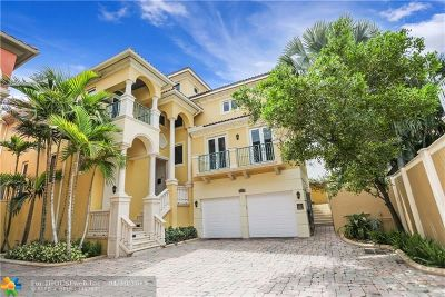 Fort Lauderdale Single Family Home For Sale: 1423 N Fort Lauderdale Beach Blvd