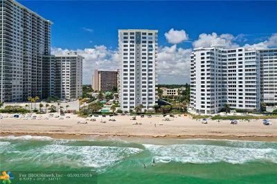 Condo/Townhouse For Sale: 3550 Galt Ocean Drive #807