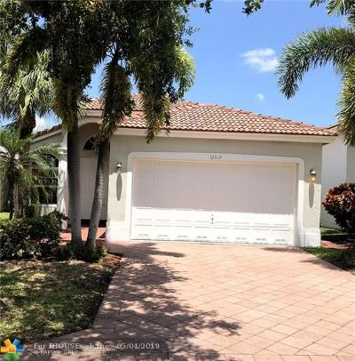 Coral Springs Single Family Home Backup Contract-Call LA: 12519 NW 54th Ct