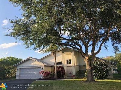 Coral Springs Single Family Home For Sale: 9033 NW 52nd Ct