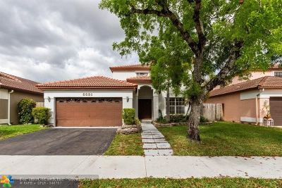 Coconut Creek Single Family Home For Sale: 5531 NW 51st Ave