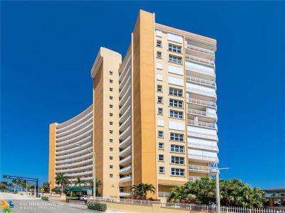 Pompano Beach Condo/Townhouse For Sale: 328 N Ocean Blvd #601