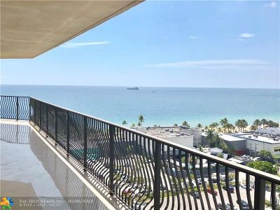 Fort Lauderdale Condo/Townhouse For Sale: 100 S Birch Rd #1501A