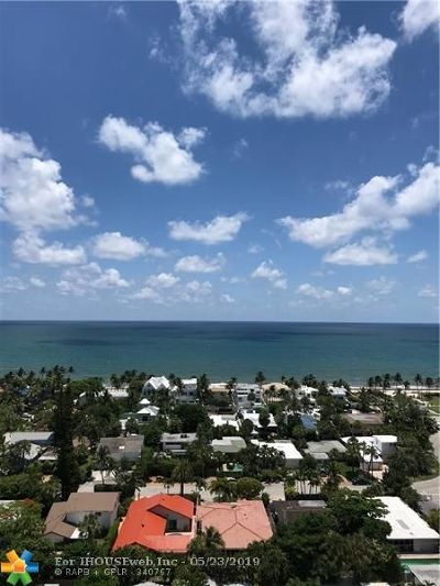 Fort Lauderdale Condo/Townhouse For Sale: 2841 N Ocean Blvd #1810