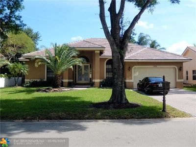 Coral Springs Single Family Home For Sale: 6464 NW 43rd Ct