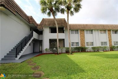 Broward County Condo/Townhouse For Sale: 8400 W Sample Rd #105