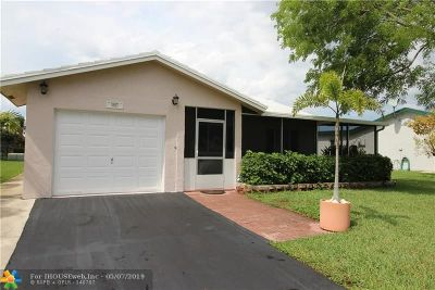 Tamarac Single Family Home For Sale: 9507 NW 72nd St
