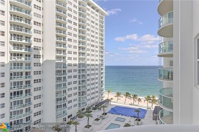 Fort Lauderdale Condo/Townhouse For Sale: 3400 Galt Ocean Dr #909S