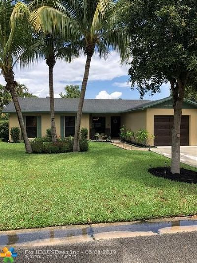 Coral Springs Single Family Home For Sale: 9771 NW 24 Street