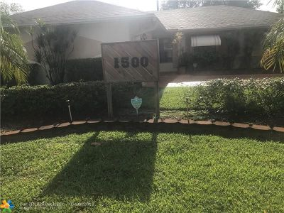 Lauderhill Single Family Home For Sale: 1500 NW 55th Ave