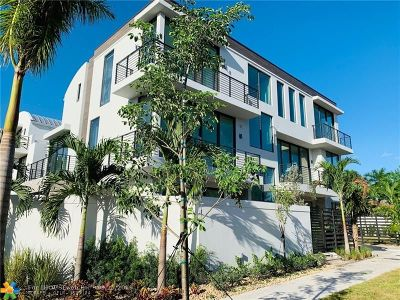 Fort Lauderdale Condo/Townhouse For Sale: 1619 NE 1st Street #1619