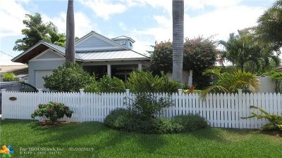Wilton Manors Single Family Home For Sale: 2200 NE 17th Ter