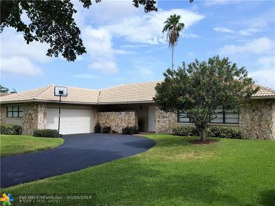Coral Springs Single Family Home For Sale: 9779 NW 1st Pl