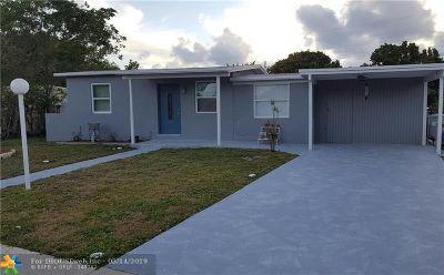 Pompano Beach Single Family Home For Sale: 5233 NE 15th Ave
