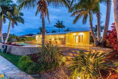 Pompano Beach Single Family Home For Sale: 2711 NE 22nd Ct