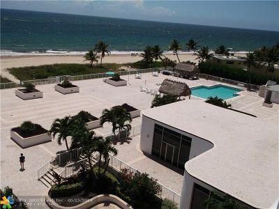 Pompano Beach Condo/Townhouse For Sale: 1390 S Ocean Blvd #5A