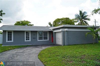 Sunrise FL Single Family Home For Sale: $319,000