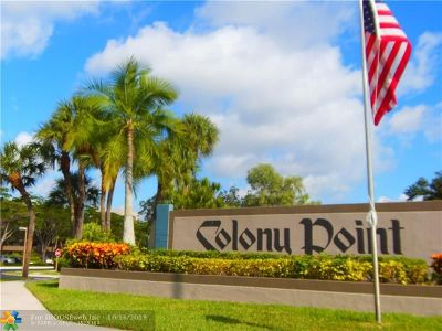 Pembroke Pines Condo/Townhouse For Sale: 1001 Colony Point Cir #103