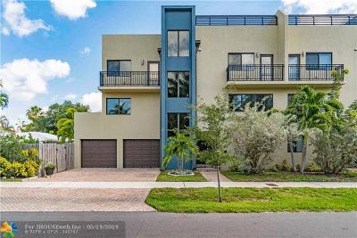 Fort Lauderdale Condo/Townhouse For Sale: 1733 NE 8th St #A