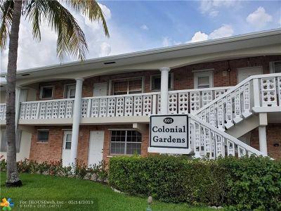 Pompano Beach Condo/Townhouse For Sale: 801 Pine Dr #15