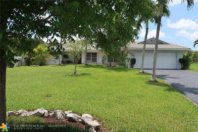 Coral Springs Single Family Home For Sale: 1701 NW 92nd Way