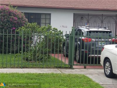 Miami Gardens Single Family Home For Sale: 17600 NW 52nd Ave