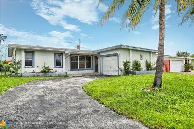 Sunrise FL Single Family Home For Sale: $270,000