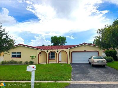 Coral Springs Single Family Home For Sale: 2662 NW 122nd Ave