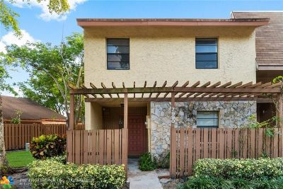 Plantation Condo/Townhouse For Sale: 7990 NW 12th St