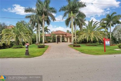 Davie Single Family Home For Sale: 12670 SW 20th St