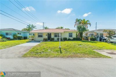 Oakland Park Single Family Home Backup Contract-Call LA: 4600 NE 2nd Ave