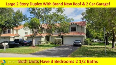 Coral Springs FL Multi Family Home For Sale: $550,000