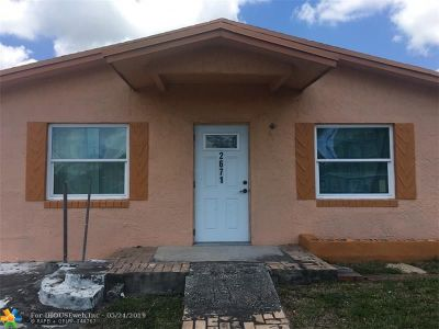Broward County Single Family Home For Sale: 2671 NW 4th Ct