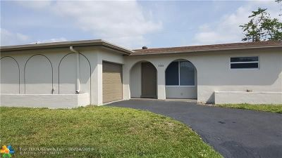 Sunrise Single Family Home For Sale: 9301 NW 24th Pl