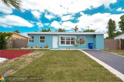 Pompano Beach FL Single Family Home For Sale: $285,000
