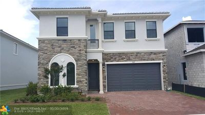 Coral Springs FL Single Family Home For Sale: $599,000