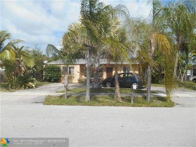 Pompano Beach Single Family Home For Sale: 2650 NE 11th Ter