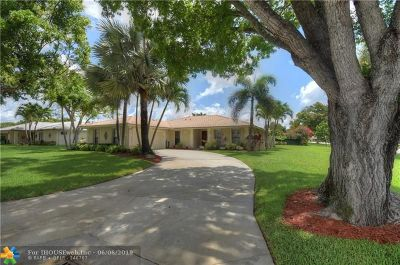 Coral Springs Single Family Home For Sale: 213 NW 92nd Ter