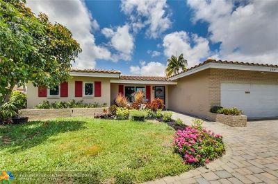 Oakland Park Single Family Home For Sale: 4031 NE 17th Ave