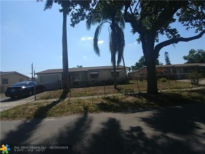 Fort Lauderdale Single Family Home For Sale: 1770 NW 27th Ter