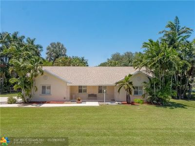 Davie Single Family Home For Sale: 13101 SW 14th Pl