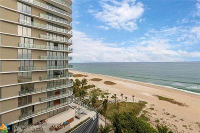 Pompano Beach Condo/Townhouse For Sale: 710 N Ocean Blvd #802