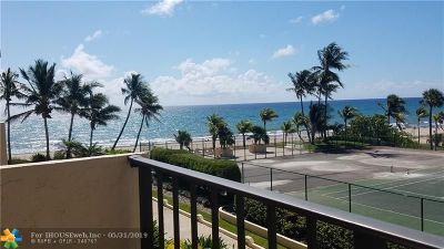 Lauderdale By The Sea Condo/Townhouse For Sale: 4900 N Ocean Blvd #503