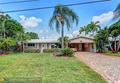 Oakland Park Single Family Home For Sale: 3961 NE 16th Ter