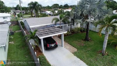Oakland Park Single Family Home For Sale: 261 NW 47