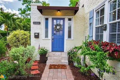 West Palm Beach Single Family Home For Sale: 516 N Hampton Road