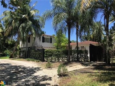 Wilton Manors Single Family Home For Sale: 2154 Lazy Lane