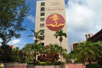 Broward County Condo/Townhouse For Sale: 1500 N Ocean Blvd #903