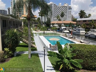 Fort Lauderdale Condo/Townhouse For Sale: 901 N Birch Rd #7D